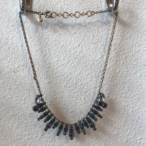 J. Crew blue and smoke stone necklace